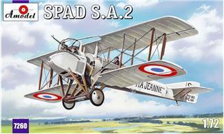 A Model From Russia 1/72 SPAD A2 French WWI BiPlane Fighter Kit