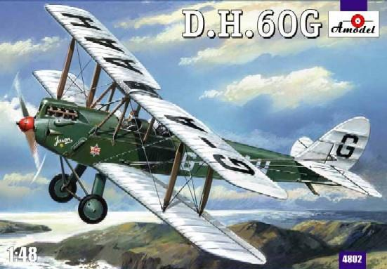 A Model 1/48 DH 60G Gipsy Moth 2-Seater BiPlane Kit