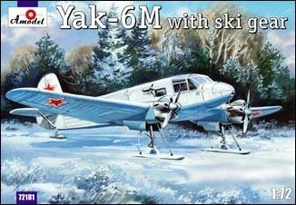 A Model From Russia 1/72 Yak6M Transport Aircraft w/Skis Kit