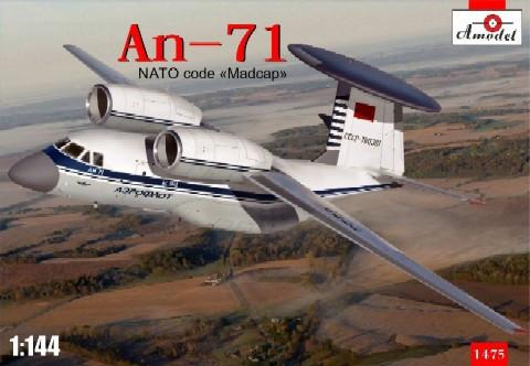 A Model 1/144 An71 NATO Code Madcap Soviet AWACS Aircraft Kit