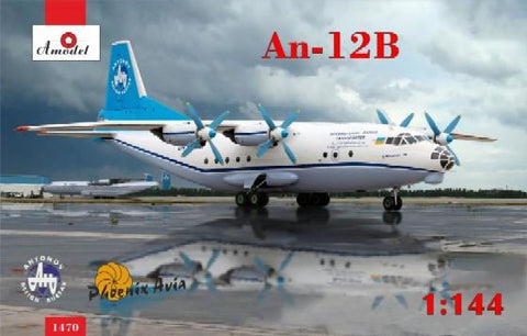 A Model 1/144 Antonov An12B Cargo Aircraft Kit