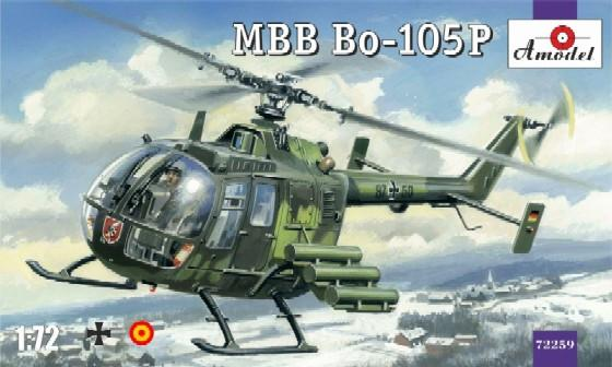 A Model From Russia 1/72 MBB Bo105P Military Helicopter Kit