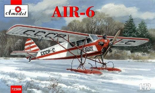 A Model From Russia 1/72 AIR6 Soviet Monoplane on Skis Kit