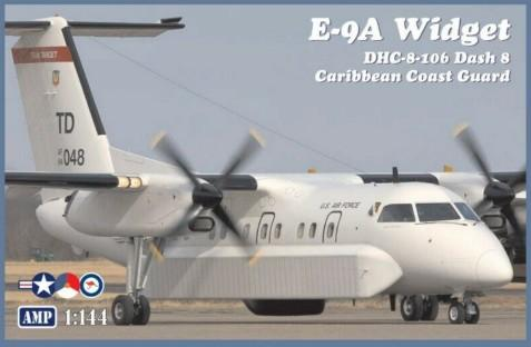 AMK Models Aircraft 1/144 E9A Widget/DHC8-106 Dash 8 Caribbean Coast Guard Aircraft Kit