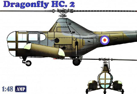 AMP Aircraft 1/48 Westland WS51 Dragonfly HC2 Rescue Helicopter Kit