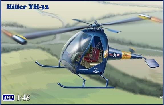 AMP Aircraft 1/48 Hiller YH32 US Ultra Light Helicopter Kit
