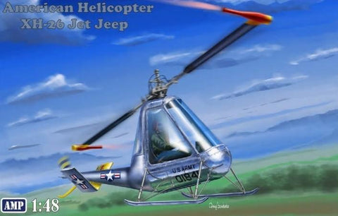 AMP Aircraft 1/48 Hiller XH26 Jet Jeep USN Helicopter Kit