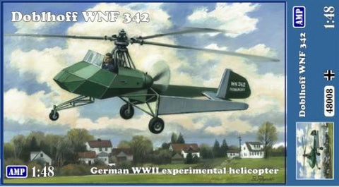 AMP Aircraft 1/48 Doblhoff WNF342 German WWII Experimental Helicopter Kit