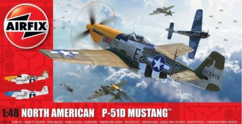 Airfix 1/48 P51D Mustang (Filletless Tails) Aircraft Kit