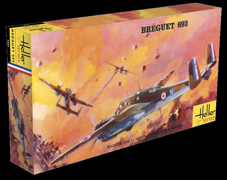 Heller Aircraft 1/72 Breguet 693/2 WWII French Ground Attack Aircraft 60th Anniversary Ltd Re-Edition Kit