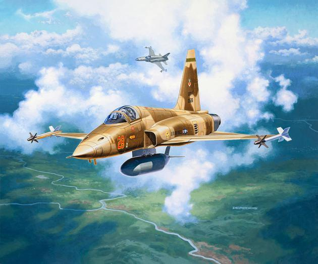 Revell Germany Aircraft 1/144 F5E Tiger Fighter Kit