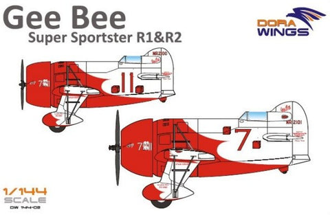 Dora Wings 1/144 Gee Bee Super Sportster R1/R2 Aircraft (2 in 1) Kit