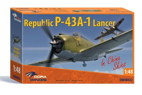 Dora Wings 1/48 Republic P43A1 Lancer in China Skies Aircraft Kit