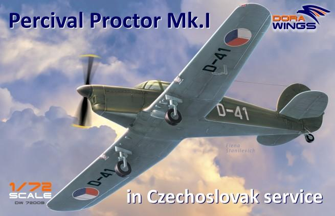 Dora Wings 1/72 Percival Proctor Mk I Czech Service Communication Aircraf Kit
