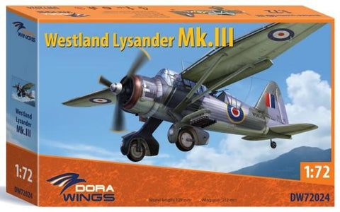 Dora Wings 1/72 Westland Lysander Mk III Aircraft Kit