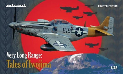 Eduard Aircraft 1/48 Very Long Range Tales of Iwo Jima USAF P51D Mustang Aircraft Ltd Edition Kit
