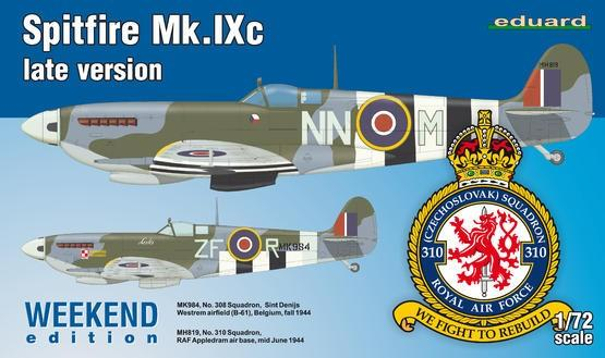 Eduard Aircraft 1/72 Spitfire Mk IXc Late Version Fighter Weekend Edition Kit