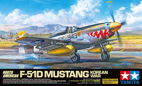 Tamiya Aircraft 1/32 F51D Mustang Fighter Korean War Kit