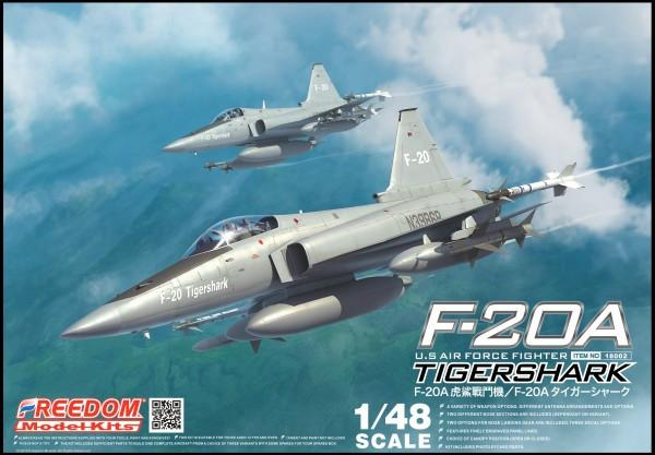 Freedom Model Aircraft 1/48 F20A Tiger Shark USAF Fighter Kit