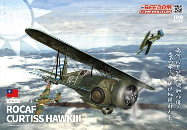Freedom Model Aircraft 1/48 ROCAF Curtiss Hawk III BiPlane Fighter (New Tool) Kit