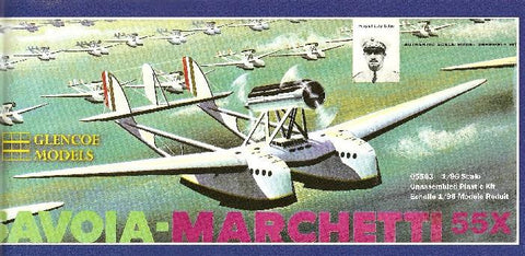 Glencoe Aircraft 1/96 Savoia Marchetti 55X Dbl-Hulled Italian Flying Boat Kit