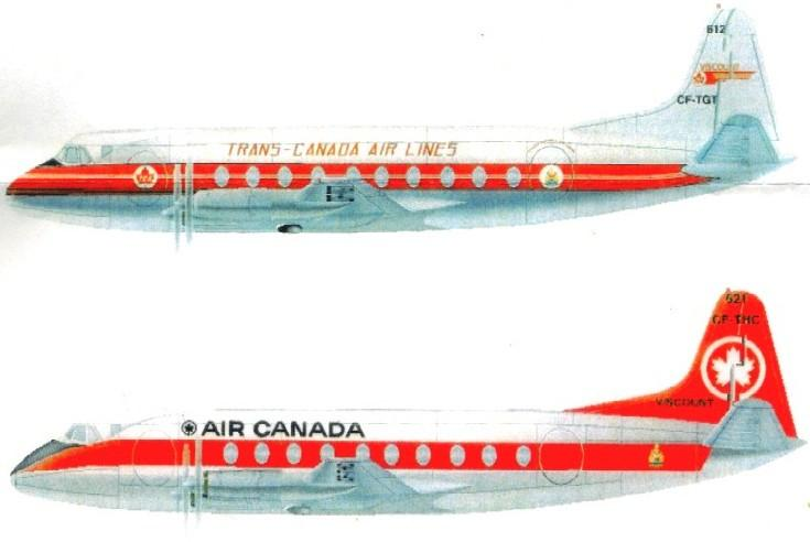 Glencoe Aircraft 1/96 Vickers Viscount Airliner w/TCA & Air Canada Markings Ltd. Edition Kit