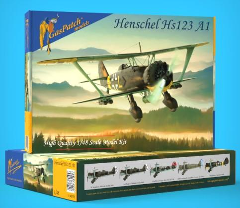 Gas Patch 1/48 Henschel Hs123A1 BiPlane Bomber (New Tool) Kit