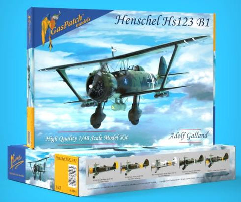 Gas Patch 1/48 Henschel Hs123B1 BiPlane Bomber (New Tool) Kit