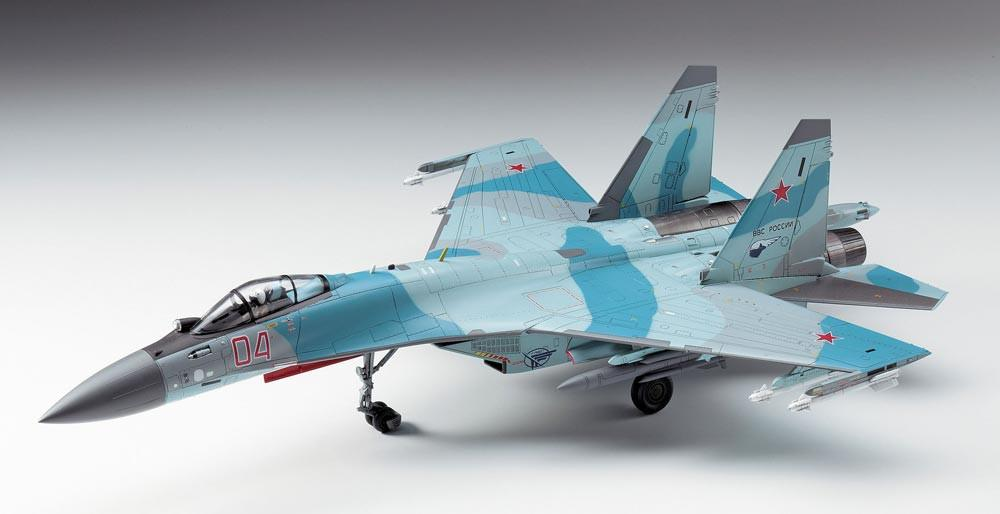 Hasegawa Aircraft 1/72 Su35S Flanker Russian AF Multi-Role Fighter Kit
