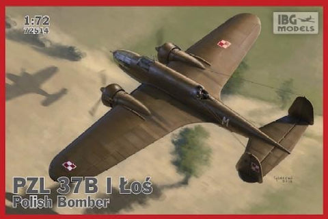 IBG Aircraft 1/72 PZL37B I Los Polish Medium Bomber (New Tool) Kit