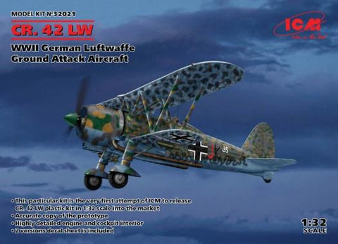ICM 1/32 WWII German Luftwaffe CR42 LW Ground Attack Aircraft (New Tool) Kit