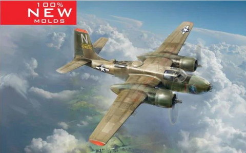 ICM 1/48 USAF B26B50 Invader Bomber Korean War (New Tool) Kit