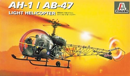 Italeri Aircraft 1/72 AH1/AB47 Light Helicopter Kit
