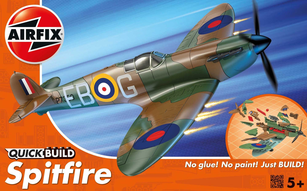 Airfix 1/72 Quick Build Spitfire Fighter (Snap Kit)