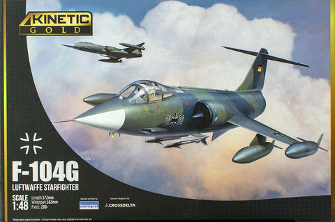 Kinetic Gold Aircraft 1/48 F-104G Starfighter Kit