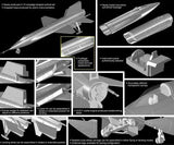 Dragon 1/144 X15 USAF Rocket-Pwd Experimental Aircraft (2) Kits