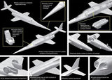Dragon 1/144 X3 Stiletto USN Experimental Jet Aircraft Twin Pack Kit