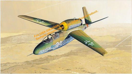 Dragon 1/48 He162D Volksjager WWII Jet Fighter Kit