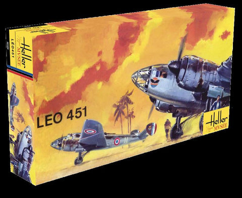 Heller Aircraft 1/72 Leo 451 WWII French Bomber 60th Anniversary Ltd Re-Edition Kit