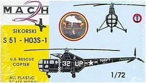 Mach-2 Aircraft 1/72 Sikorsky S51HO3 S1 US Rescue Helicopter Kit