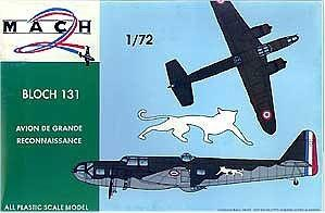Mach-2 Aircraft 1/72 Bloch 131 WWII French Medium Bomber Kit