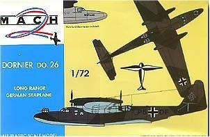 Mach-2 Aircraft 1/72 Do26 WWII German Long Range Seaplane Kit