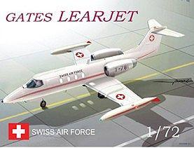 Mach-2 Aircraft 1/72 Gates Learjet Swiss AF Aircraft Kit