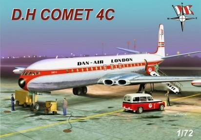 Mach-2 Aircraft 1/72 DH Comet 4C Dan-Air (Civil Version) Commercial Airliner Kit