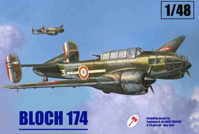Mach-2 Aircraft 1/48 Bloch 174 French Recon Bomber 1940 Kit