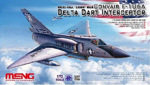 Meng Aircraft Models 1/72 F-106A Delta Dart Interceptor Kit
