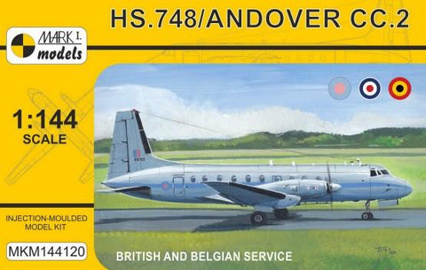 Mark I 1/144 HS748/Andover CC2 Military British/Belgian Service Transport Aircraft Kit