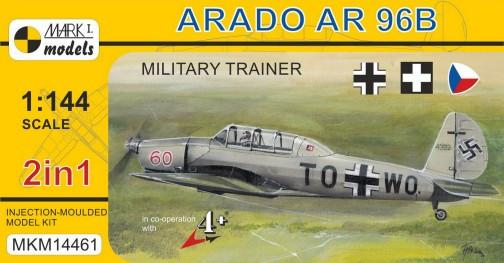 Mark I 1/144 Arado Ar96B/Avia C2 Military Trainer German/Czech/Hungarian AF Aircraft (2 Kits)