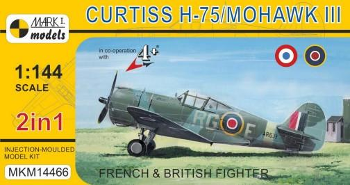Mark I 1/144 Curtiss H75/Mohawk Mk III French/British AF Fighter (2 Kits)