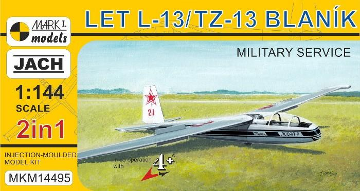 Mark I 1/144 LET L13/TZ13 Blanik Military Service Two-Seater Glider (2 in 1) Kit